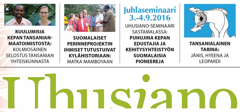 Uhusiano-tiedote 1/2016